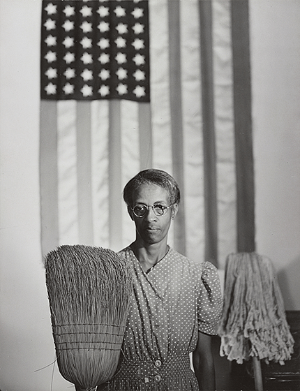 """Washington, D.C. Government charwoman"" by Gordon Parks (1942)"