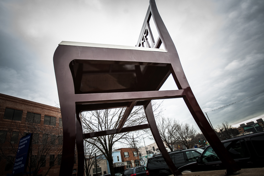 The Big Chair in Ward 8. Photo by Darrow Montgomery/file.