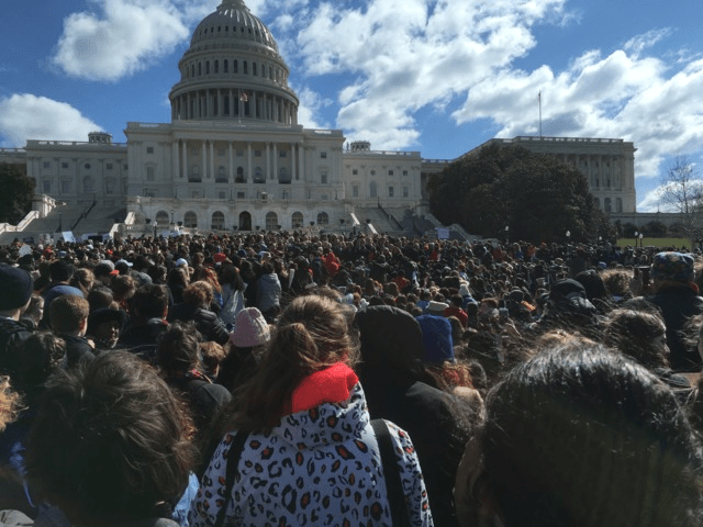 March 14, 2018 student walkout and protest against gun violence