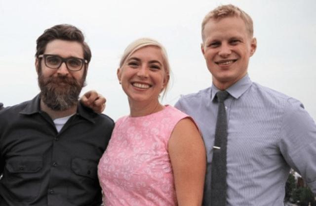 Jon Sybert, Jill Tyler, and Bill Jensen in 2015 as they geared up to open their restaurant.