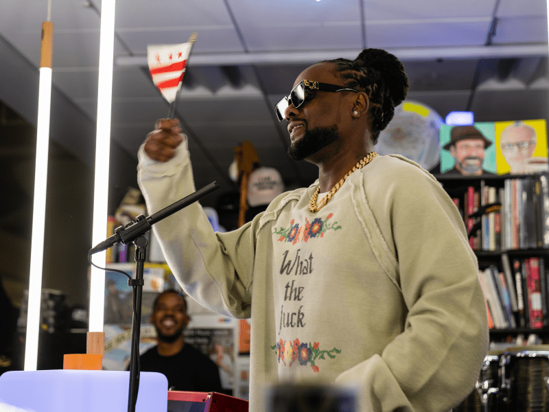 Wale at an NPR Tiny Desk Concert on Oct. 30, 2019