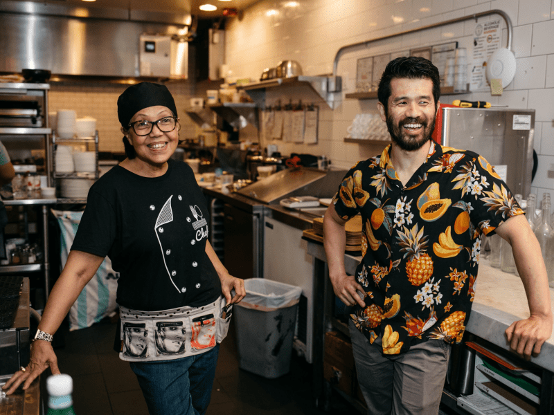 Thamee executive chef and co-owner Jocelyn Law-Yone and co-owner Eric Wang