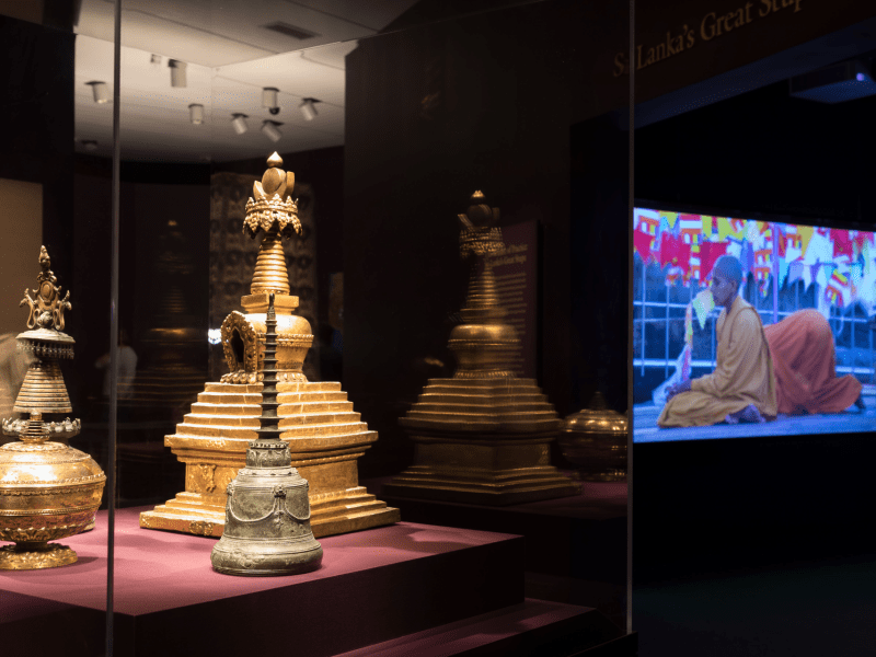 An image of Encountering the Buddha, an exhibition which was on display before the museum closed.