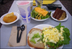 Government-supplied lunch, Washington, D.C., 2009