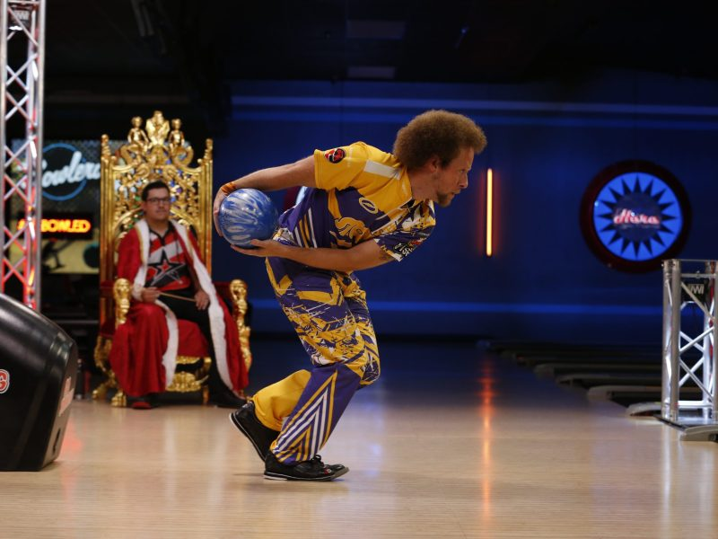 Kyle Troup of the Professional Bowling Association League's Portland Lumberjacks