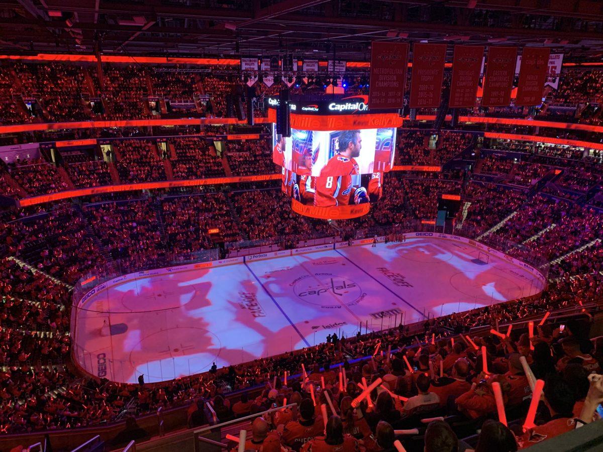 A Washington Capitals game at Capital One Arena