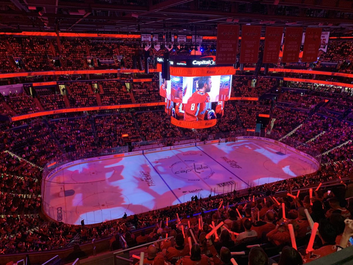 A Washington Capitals game at Capital One Arena