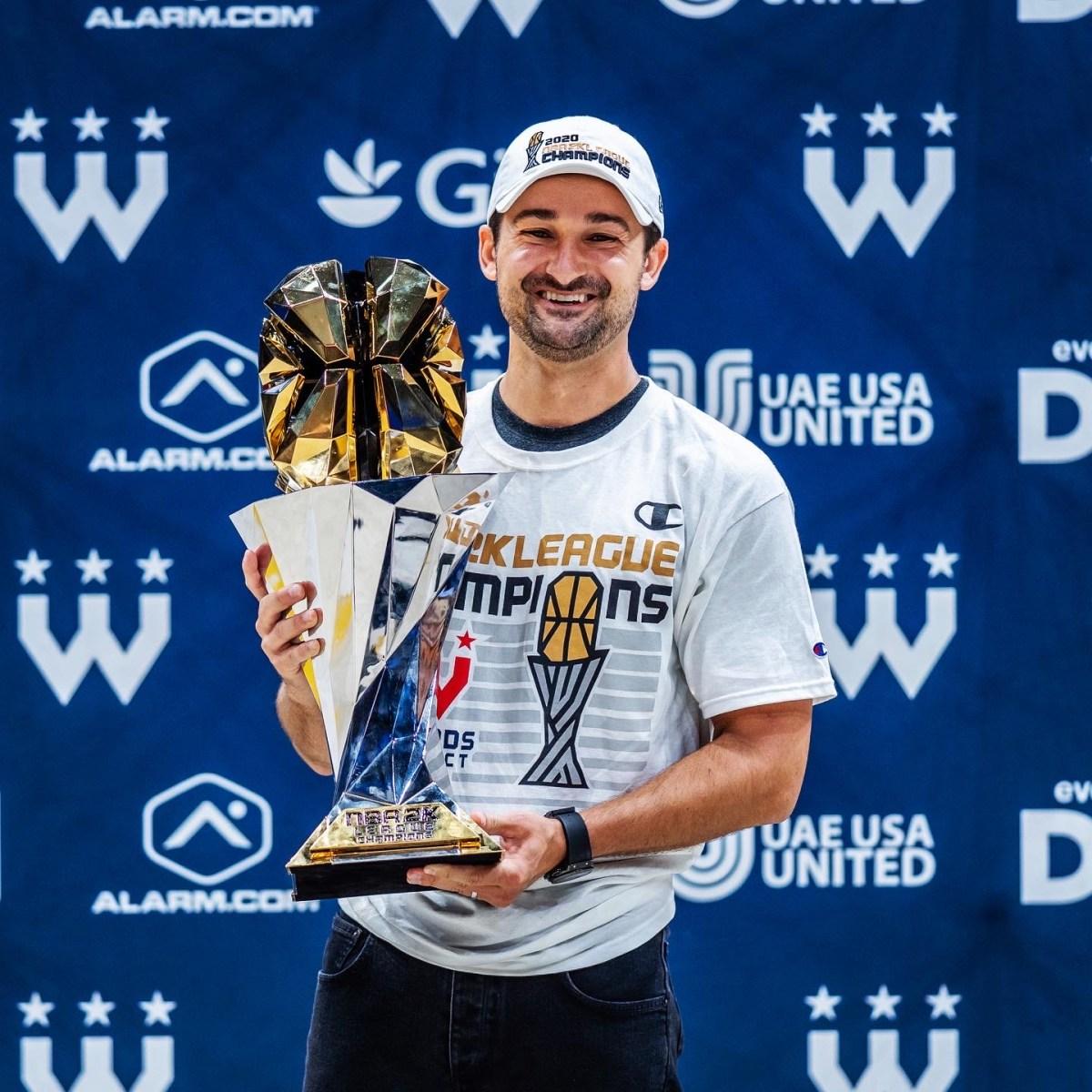 Zach Leonsis celebrates Wizards District Gaming's NBA 2K League championship