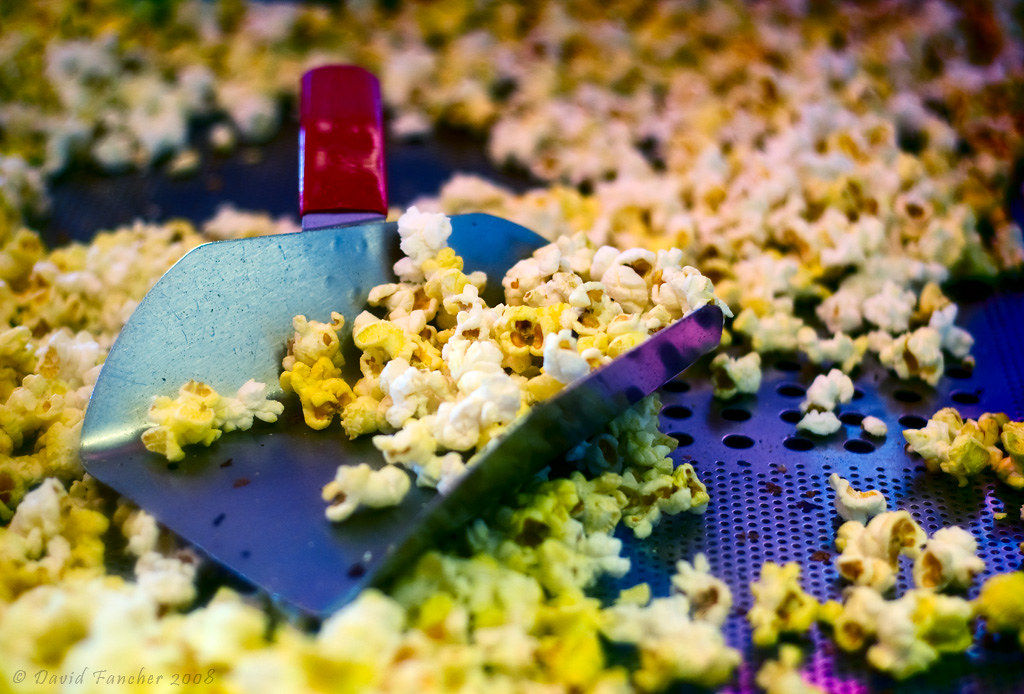 Movie theater popcorn, like what you can now get at the Miracle Theatre