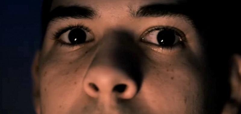 A still from Morgue, depicting eyes in a tight shot.