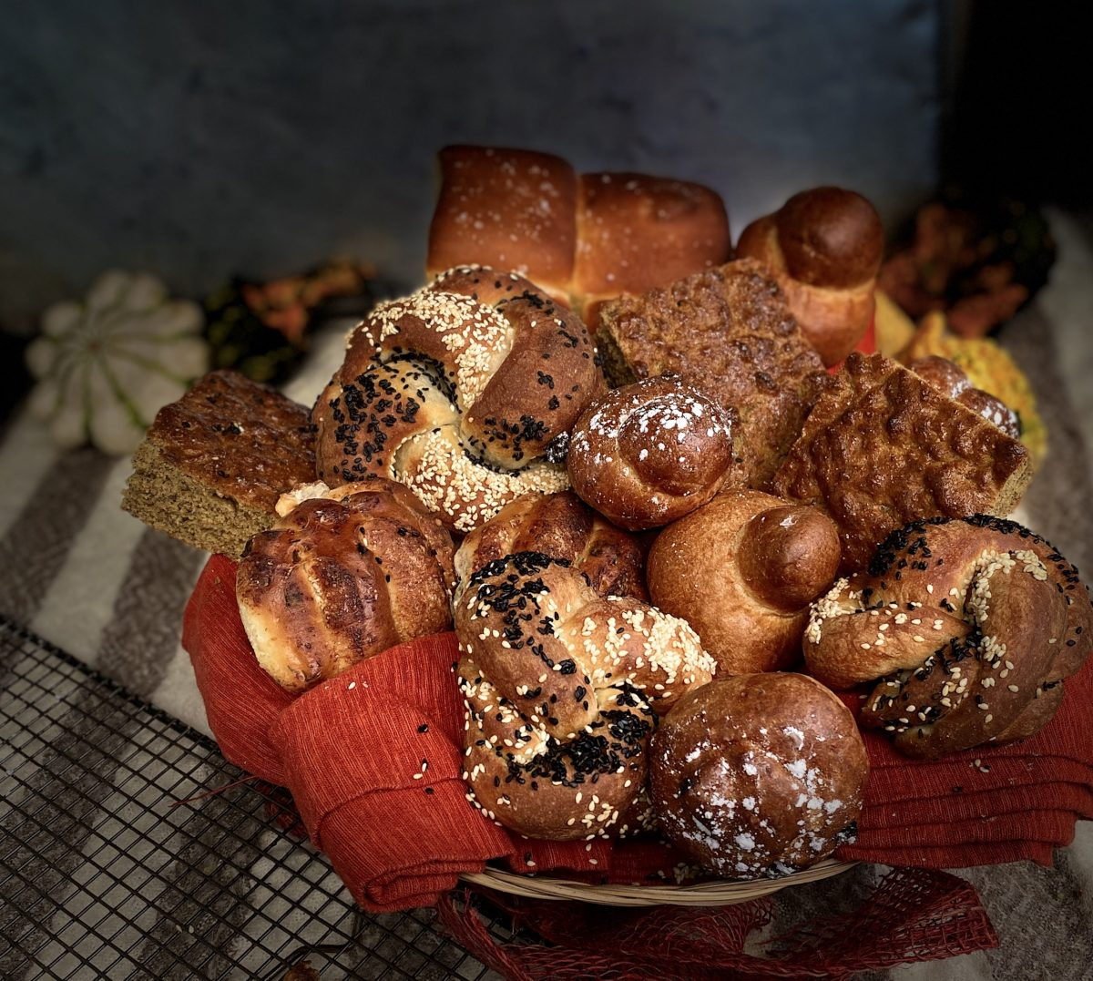 Thanksgiving bread basket from Glen's Garden Market