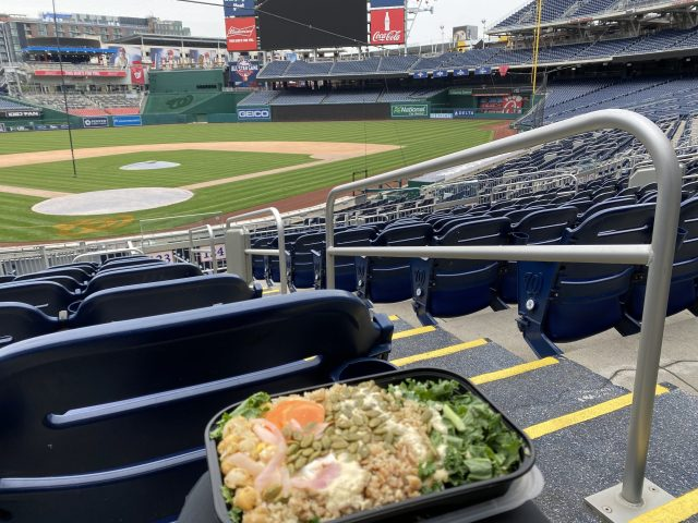 Lunch in an empty Nats Park