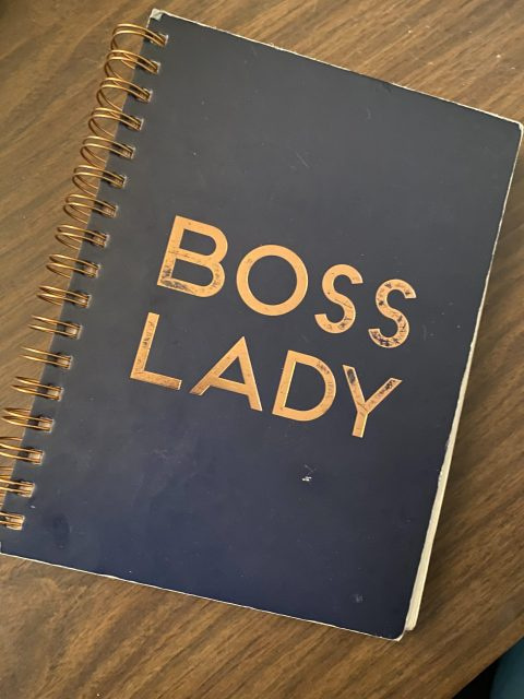 """Notebook that says """"Boss Lady"""""""
