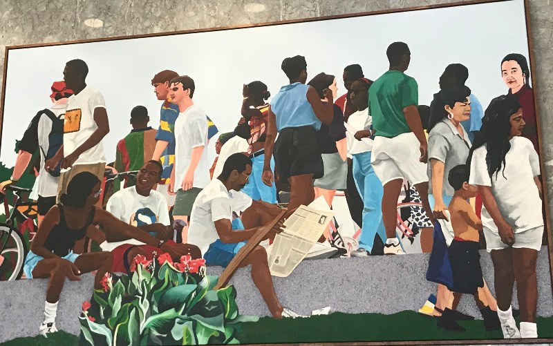 "A panel of Eglon Daley's ""All the People"""