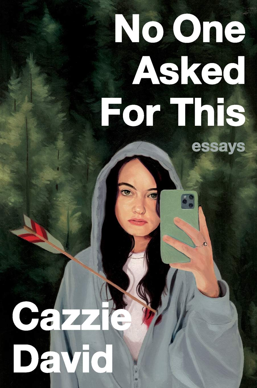 The cover of Cazzie David's No One Asked for This.