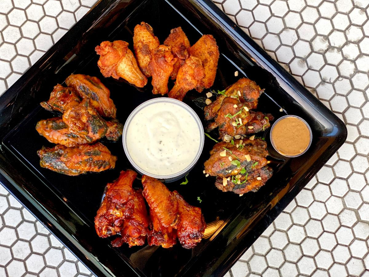 Wing platter from Jack Rose Dining Saloon