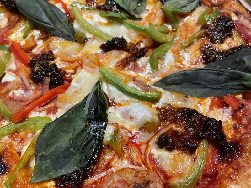 Sausage + Peppers pizza from Martha Dear