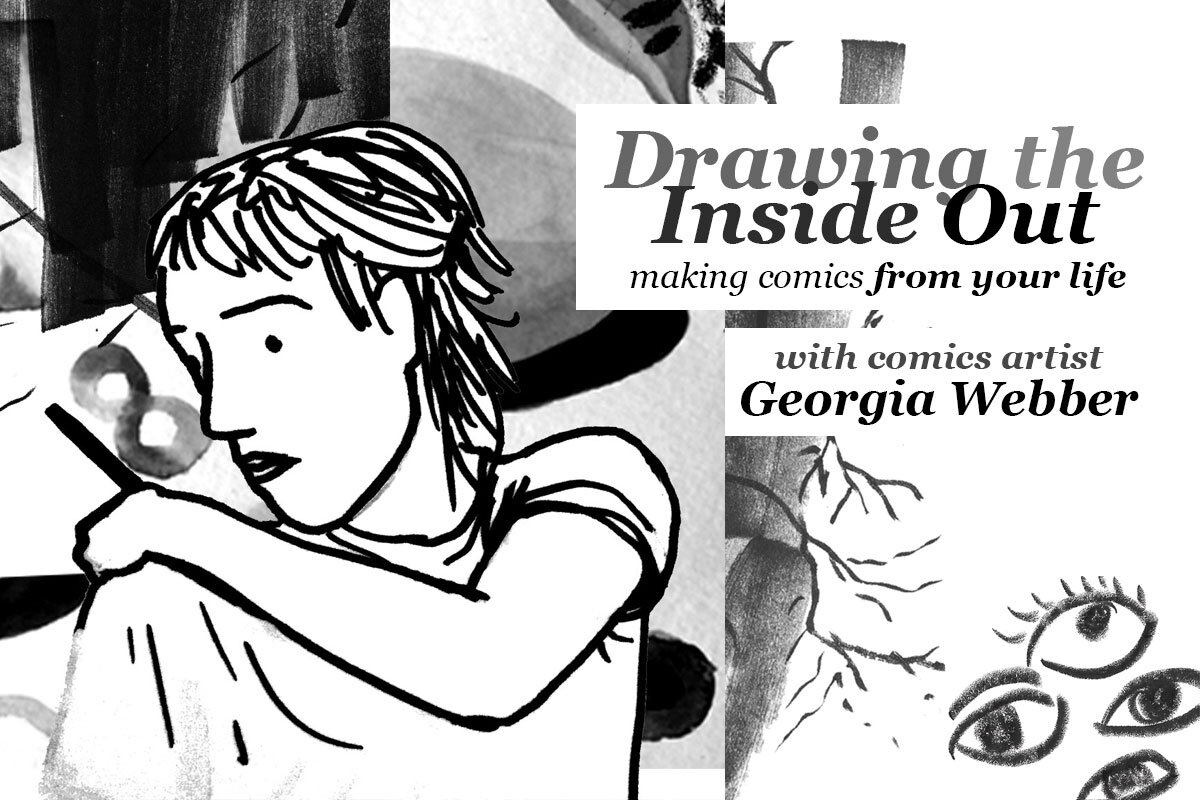 Promotional image for Georgia Webber's comics class at Rhizome DC.