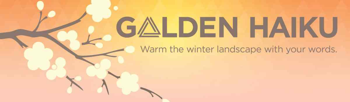 The promotional image for Golden Triangle BID's haiku contest.