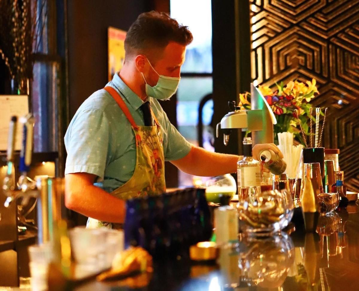 Jon Schott makes a drink at King's Ransom