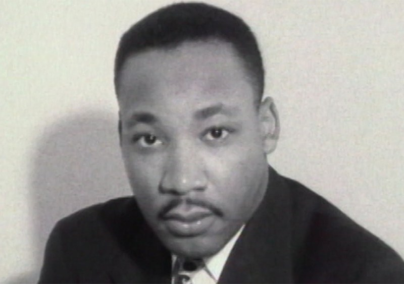 A still of Martin Luther King Jr. from MLK/FBI.
