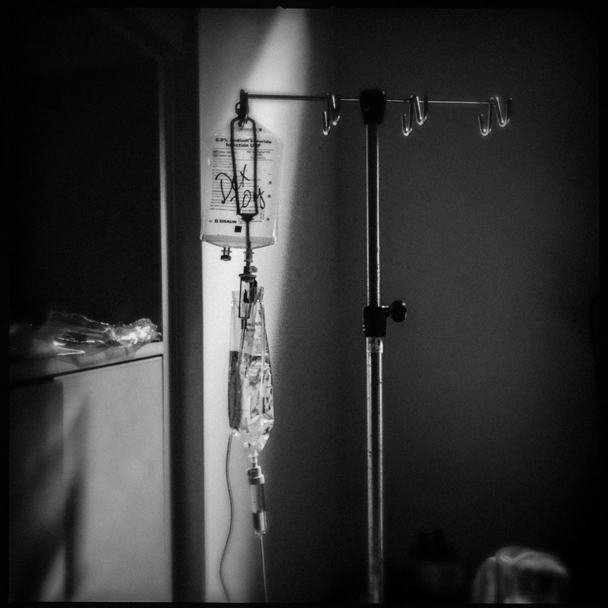 Hospital IV stand