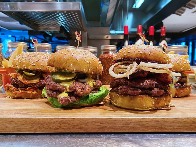 A selection of burgers from Gee Burger