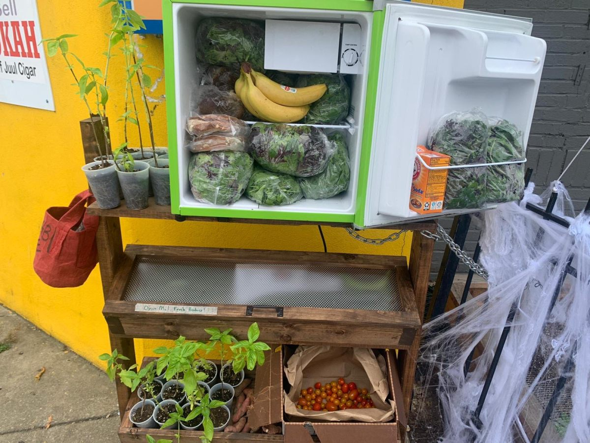 D.C. Fridge Collective fridge filled with produce
