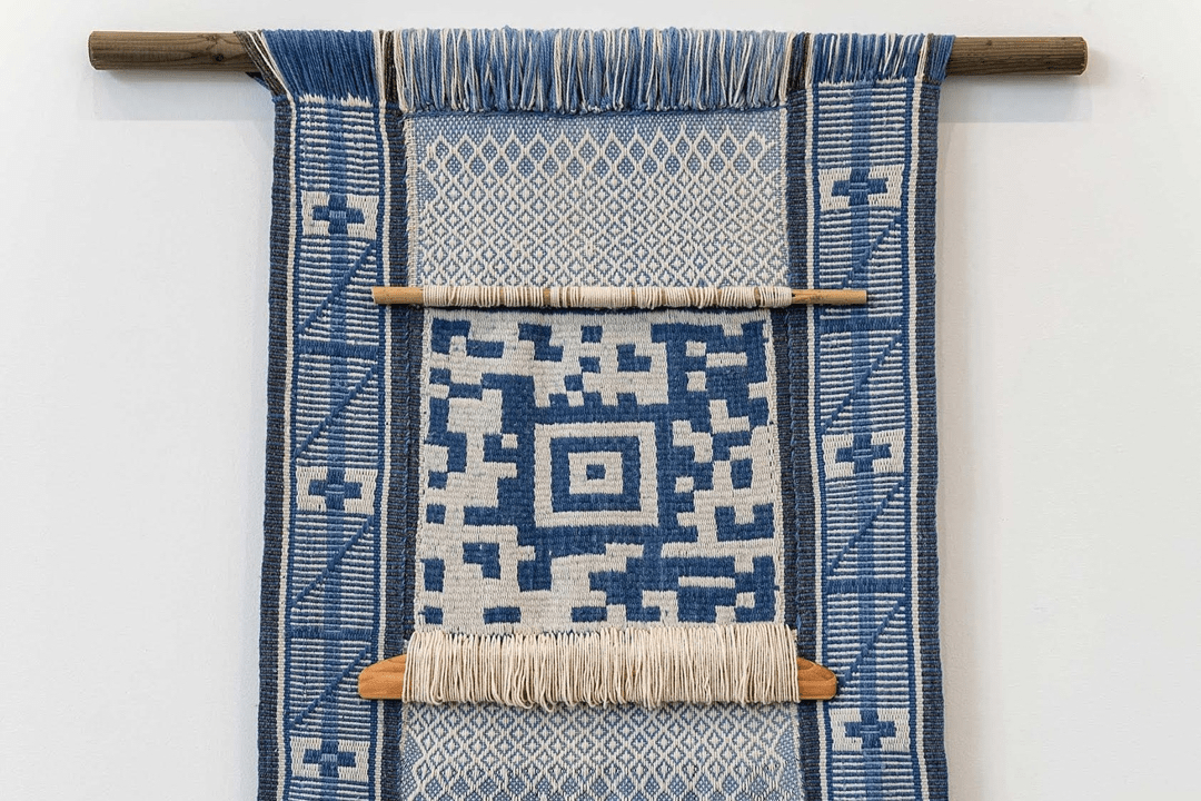 A weaving of the kind Guillermo Bert will discuss.