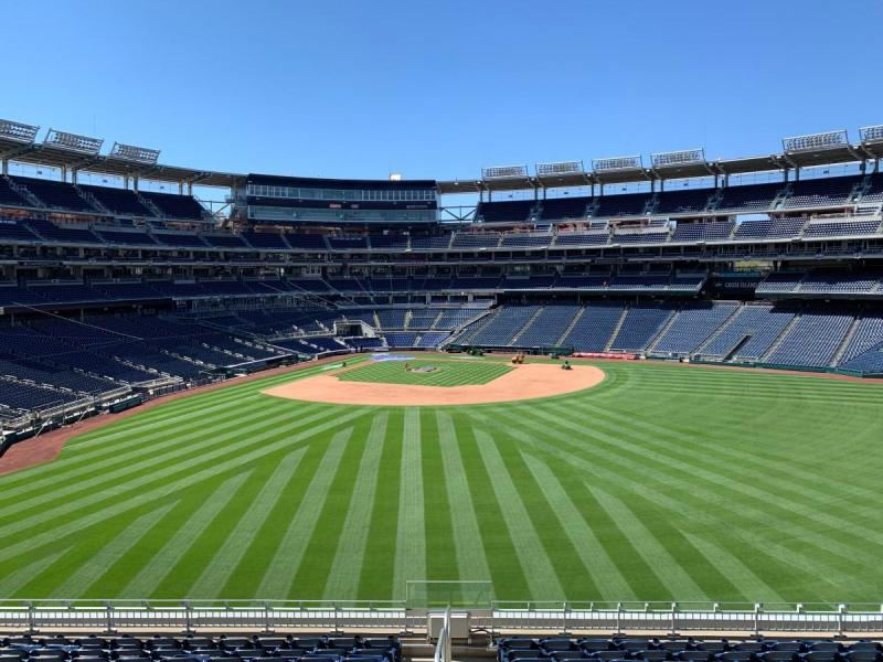 Nationals Park in Washington, D.C., prior to the beginning of the 2021 Major League Baseball season.