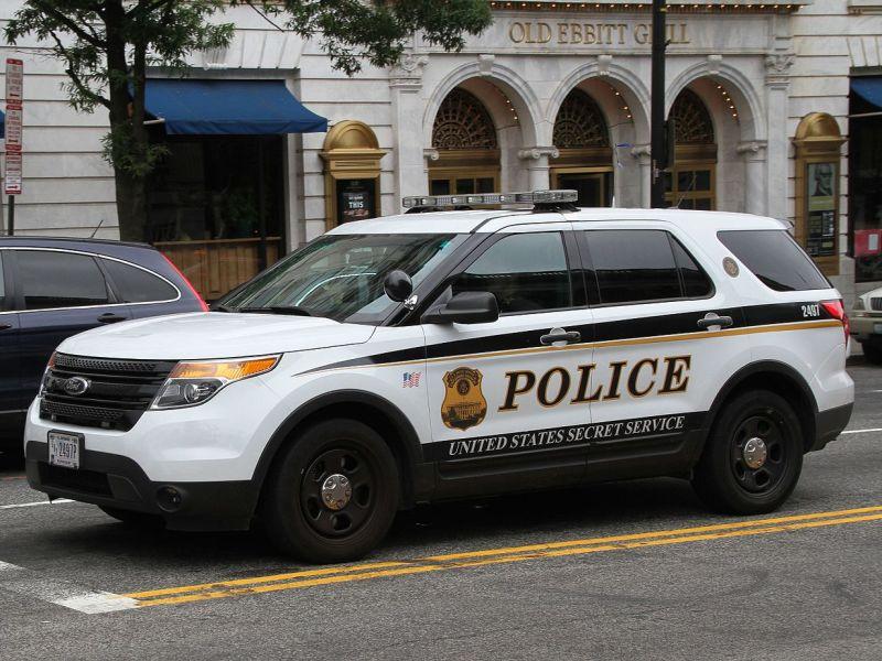 A Secret Service car in downtown D.C.