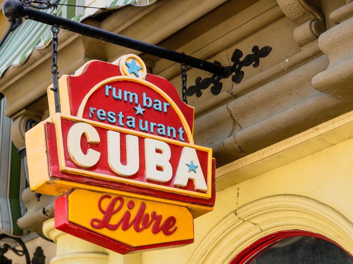 Cuba Libre restaurant sign