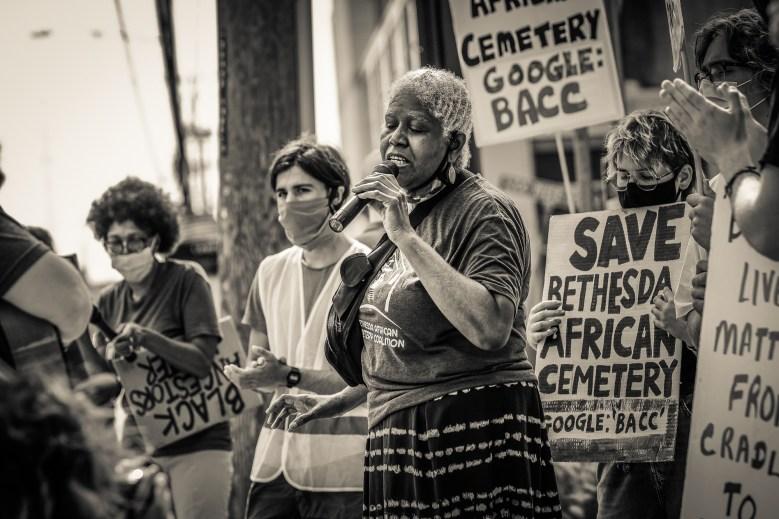 Karen Wilson-Ama'Echefu has written songs in honor of the cemetery.