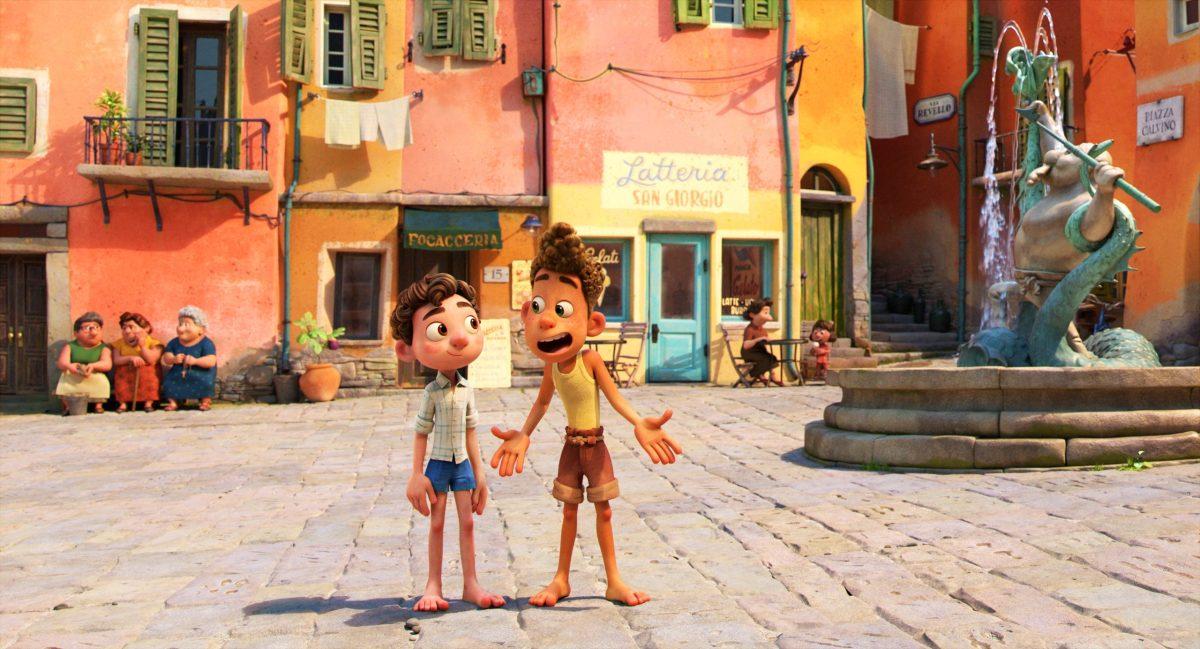 A still from Pixar's Luca.