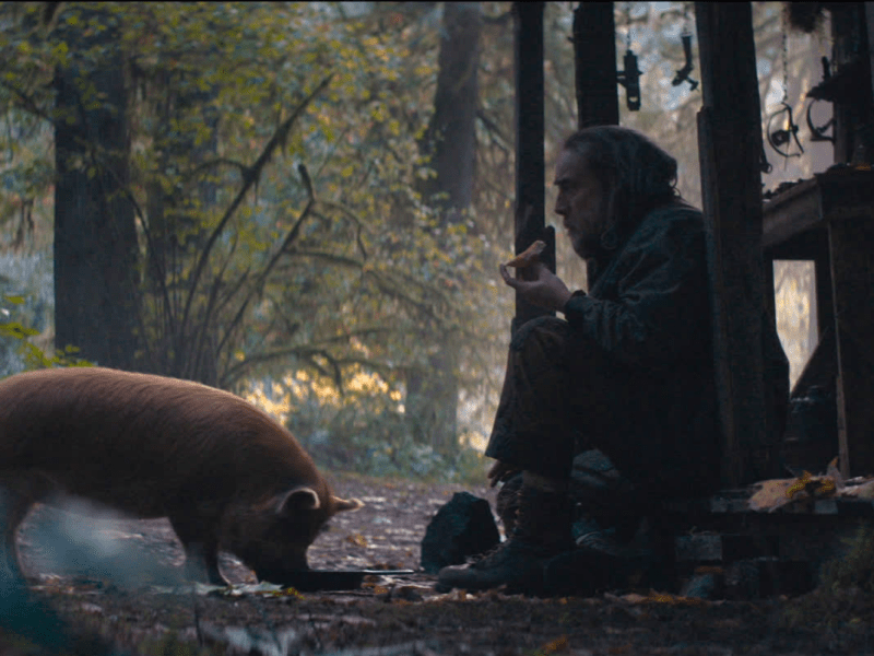 A still from Pig starring Nicolas Cage.