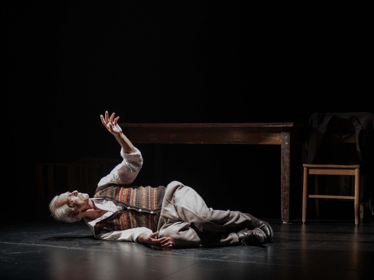 A production photo from Remember This: The Lesson of Jan Karski