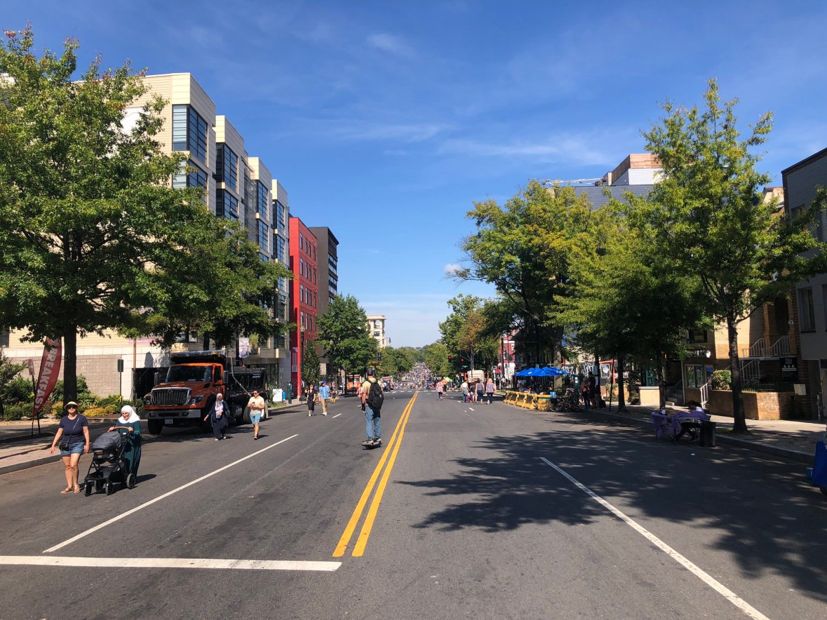 Georgia Avenue NW, closed to traffic on Oct. 2, 2021 as part of D.C.'s Open Streets initiative