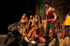 Gaston (Grant Garcia, 10) and the villagers plot to kill the Beast.