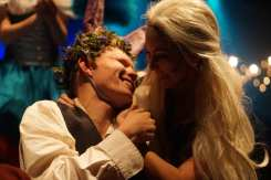 Connor Fitzmaurice, playing Nick Bottom, is comforted by Maddie Grimm, playing Titania. Photo by Liberty Vela