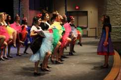 The fairies practice their final dance. Photo by Arianna Michaud.