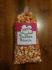 This is the appearance of the Buffalo Ranch popcorn flavor.