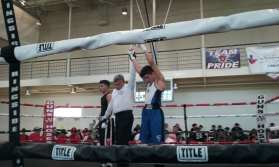 Senior Kevin Mendoza winning the fight.