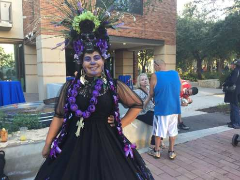 Many patrons wore makeup, but some went the extra mile with whole costumes around the theme.