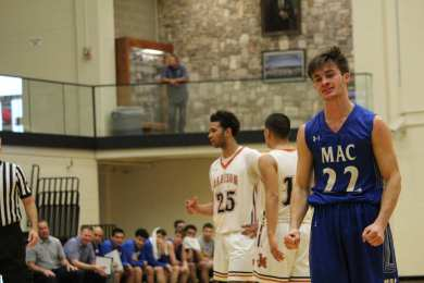 Murphy walking away after the team unsuccessfully blocked Madison from scoring.