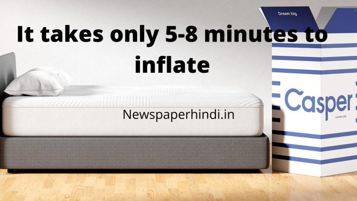how long does casper mattress take to inflate