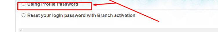 Reset your Login password with Branch Activation.