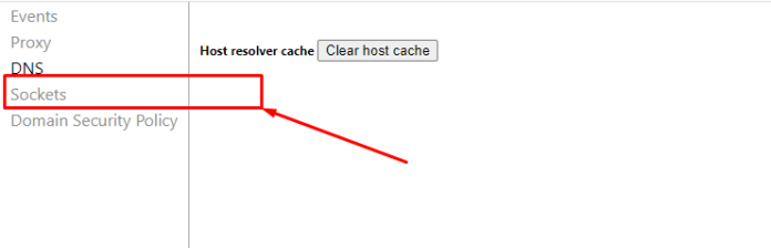 net clearing cache