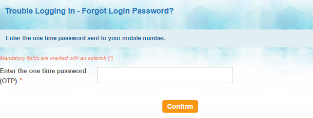 Reset your profile password using ATM card