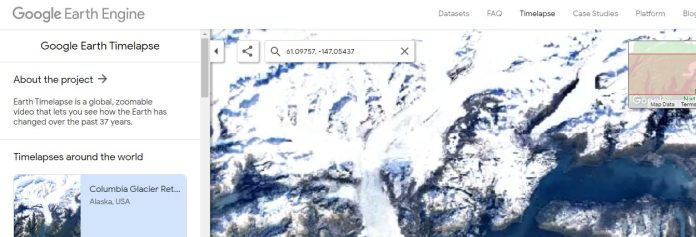 how to use google earth timelapse