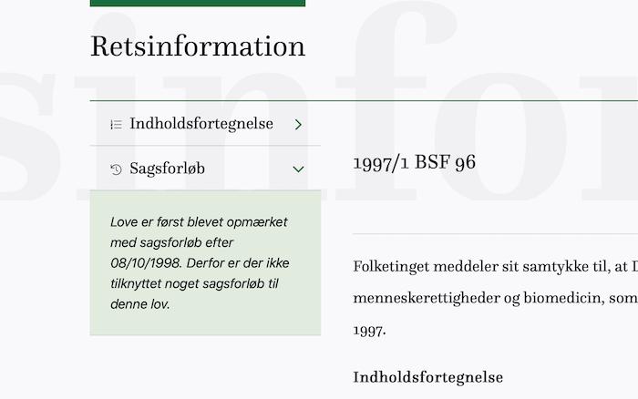 Retsinformation